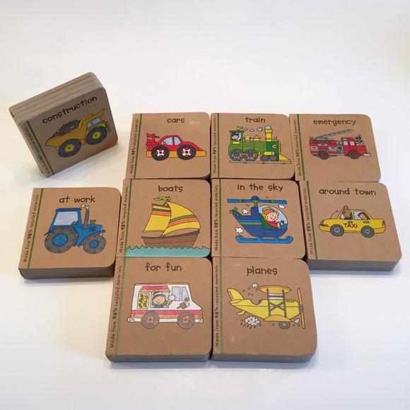 Children's Mini Vehicle Book Set